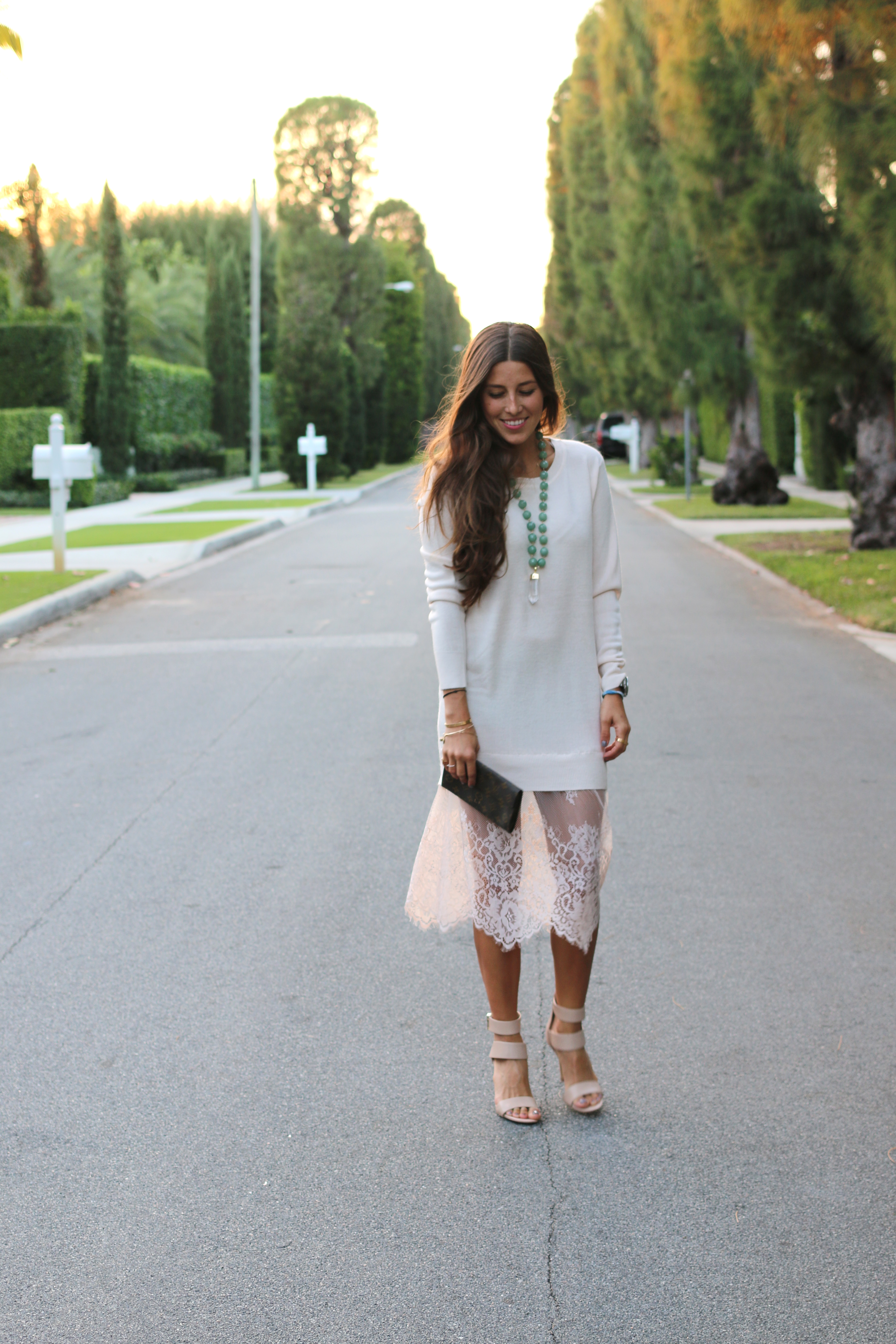 White Lacey Sweater 55