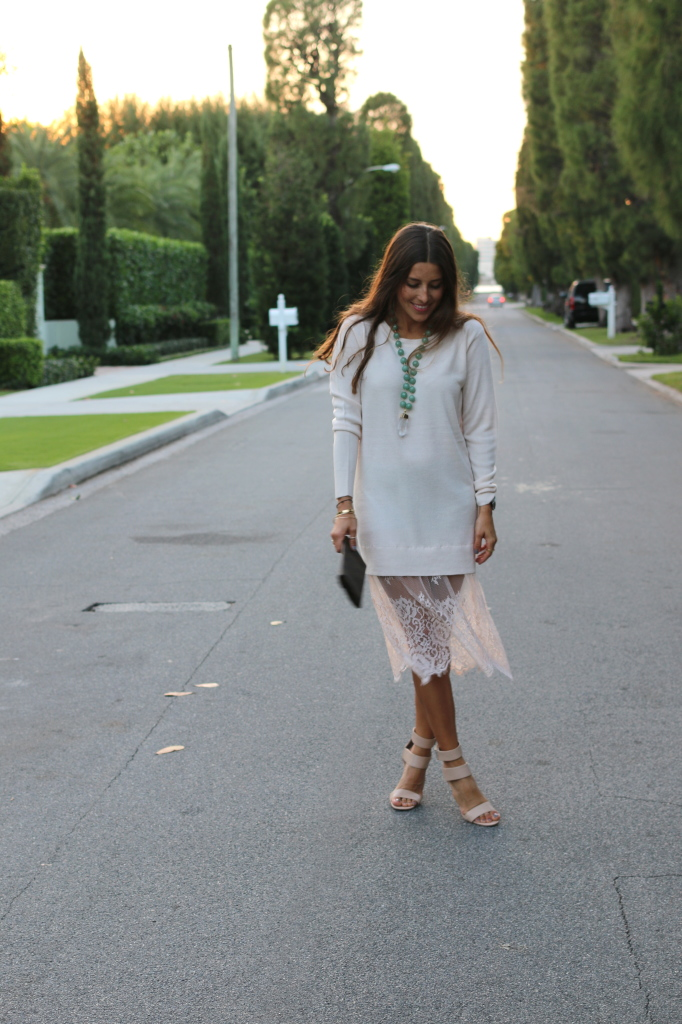 White Lacey Sweater 112