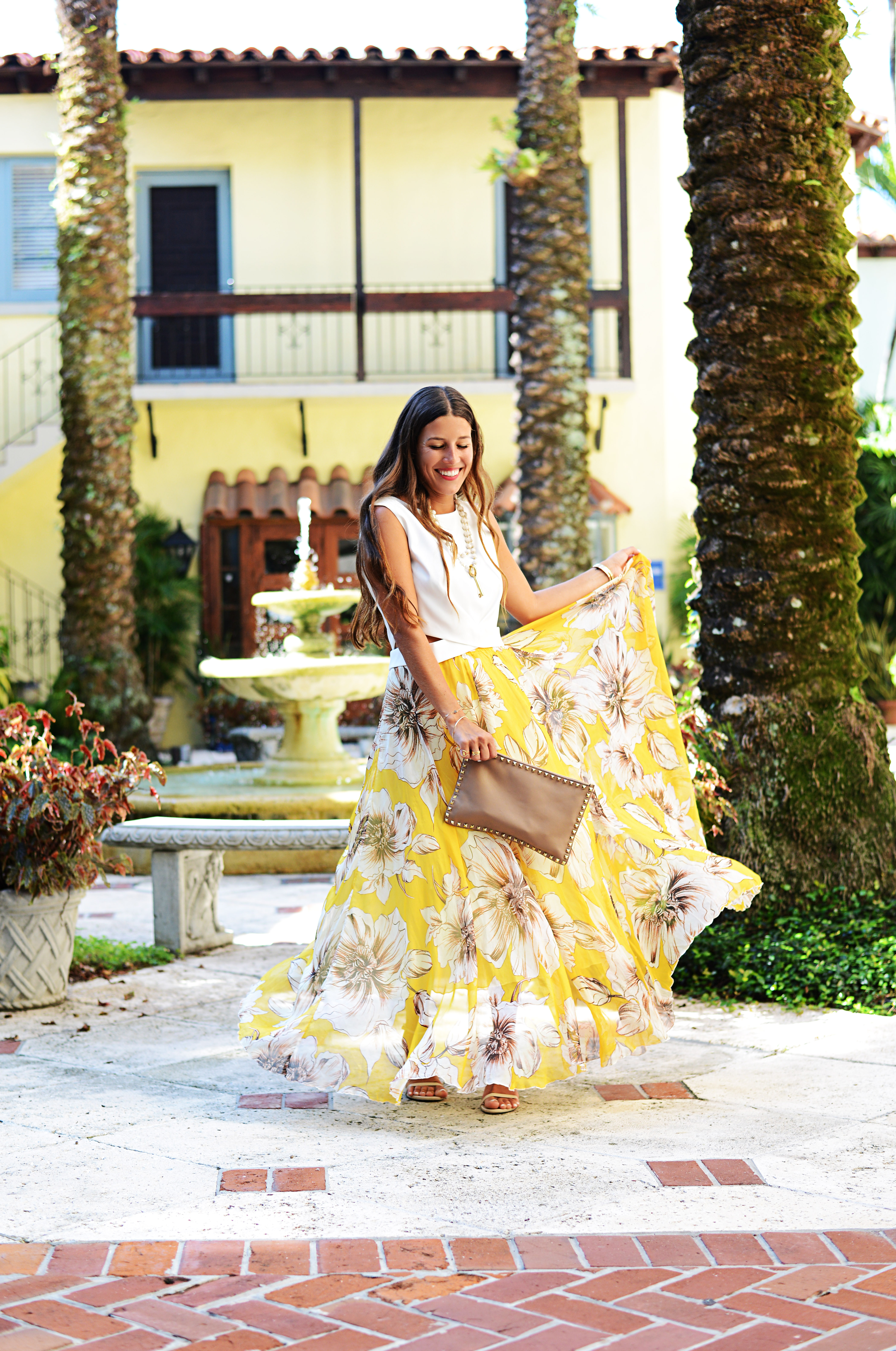 Yellow Floral Maxi Skirt From Ltk Tuesday Takeover