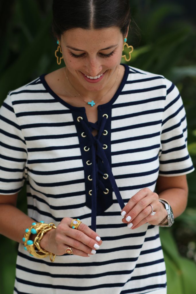 Lace-Up Stripes
