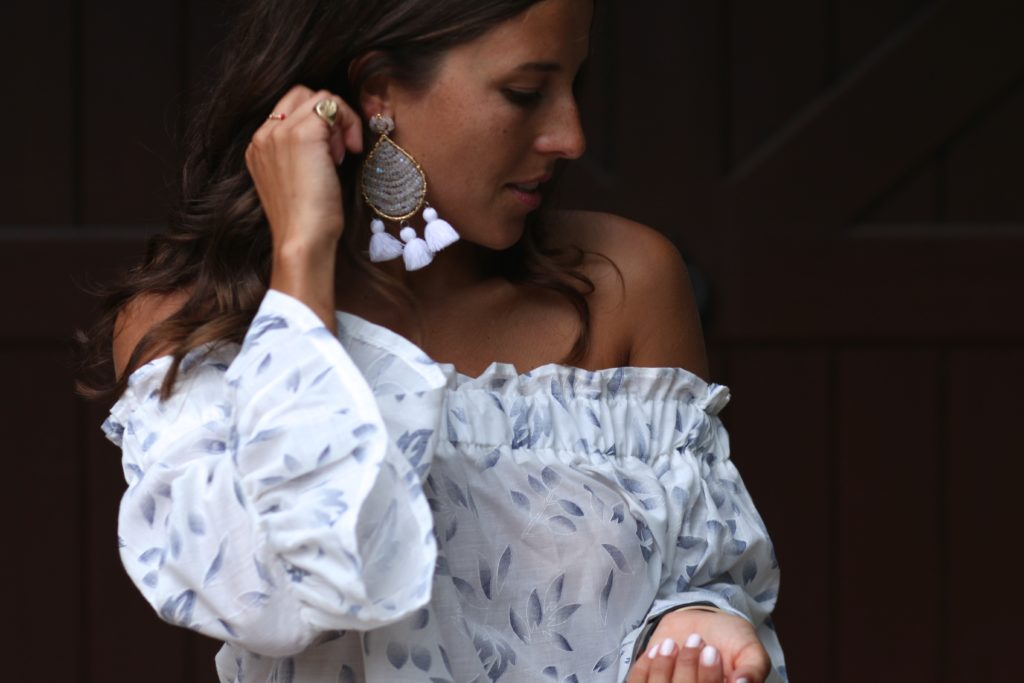 Off The Shoulder Bell Sleeves