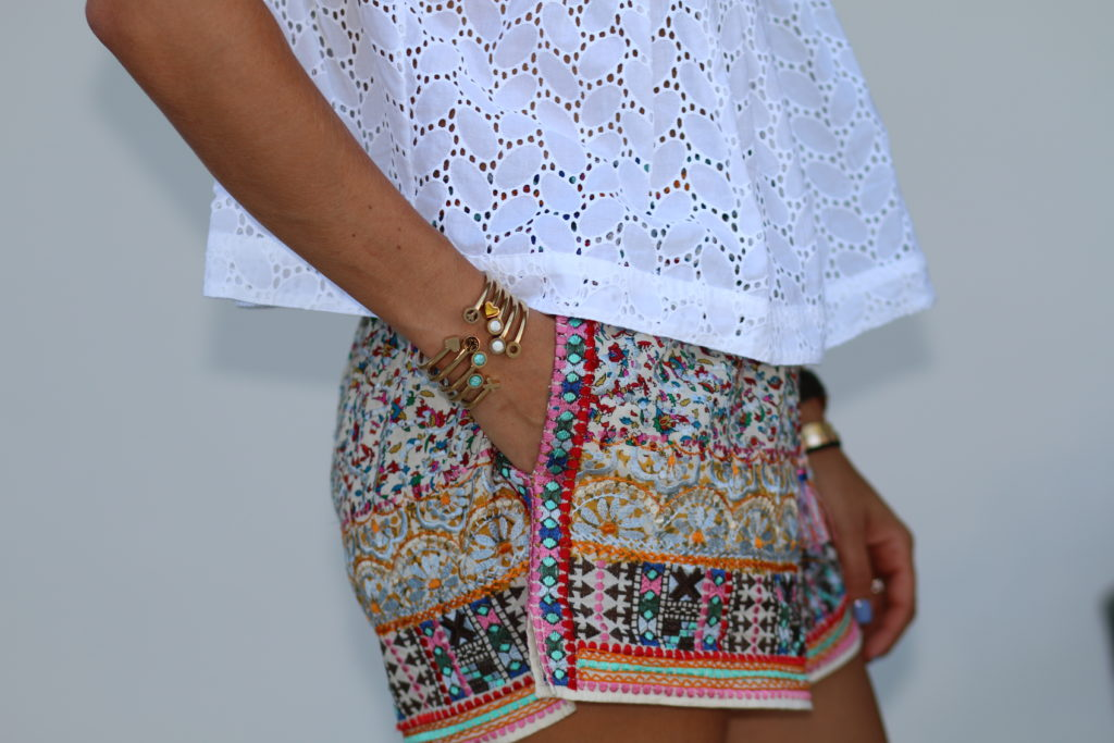Calypso Embroidered Shorts