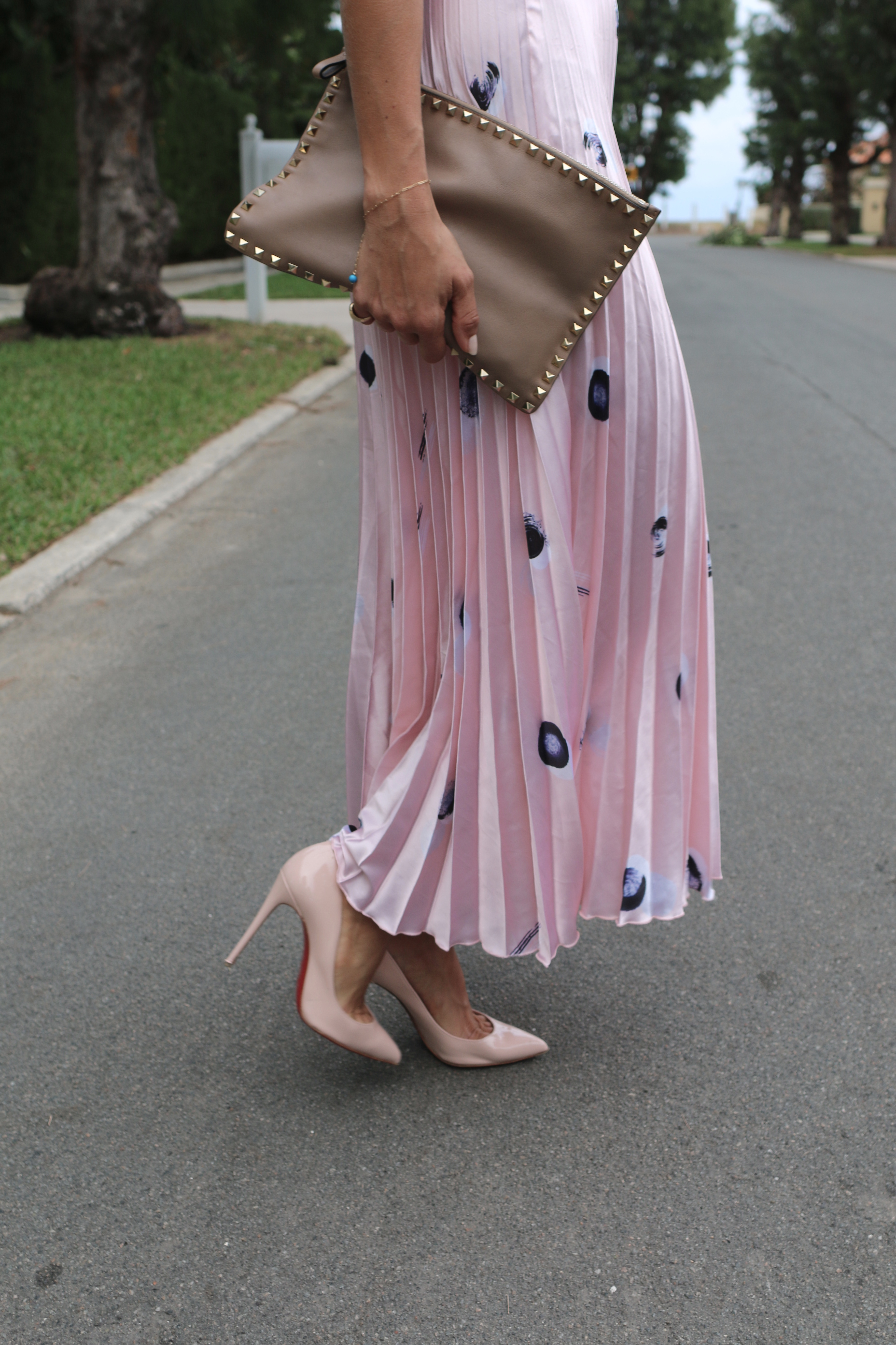 pleated skirt in pink from asos