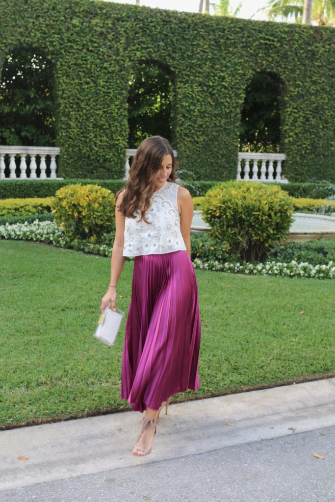 Pleats from ASOS, Sequins, & Bows