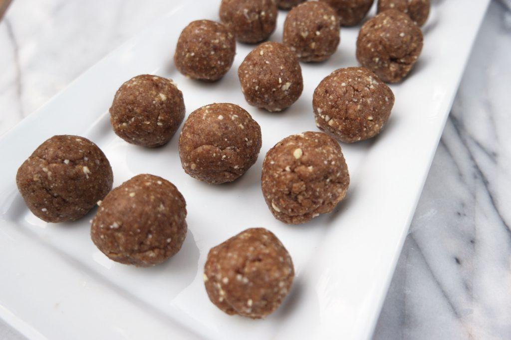 My First Recipe: Vanilla Maca Energy Balls close up