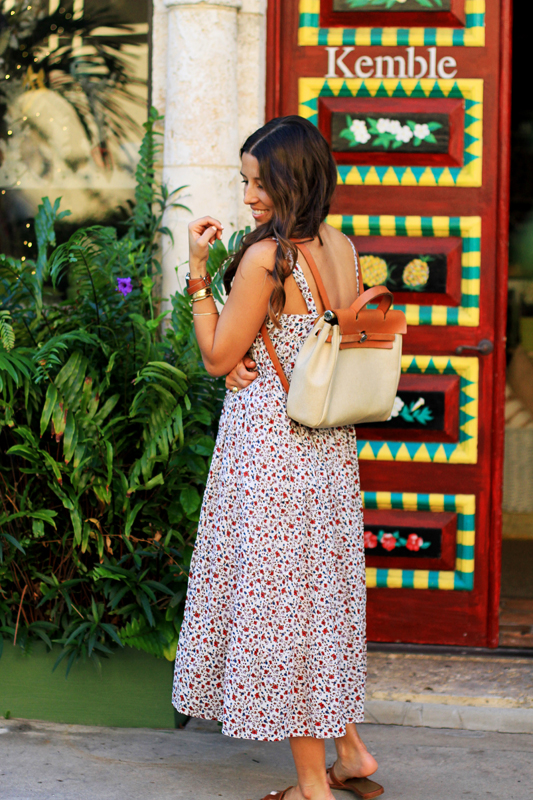 Floral Midi by Xirena + Hermes Backpack