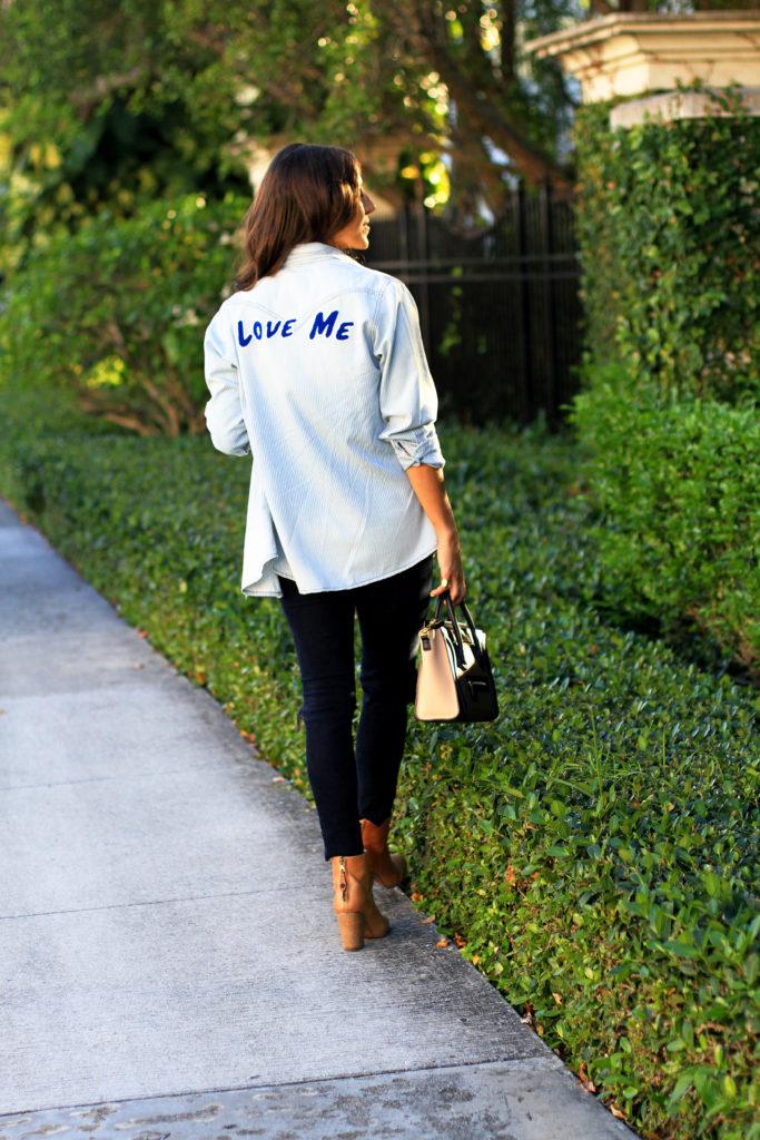 Denim Love Me shirt + Jeans