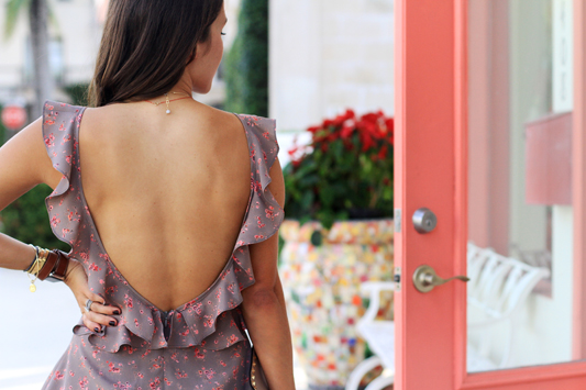 Backless Floral Mini