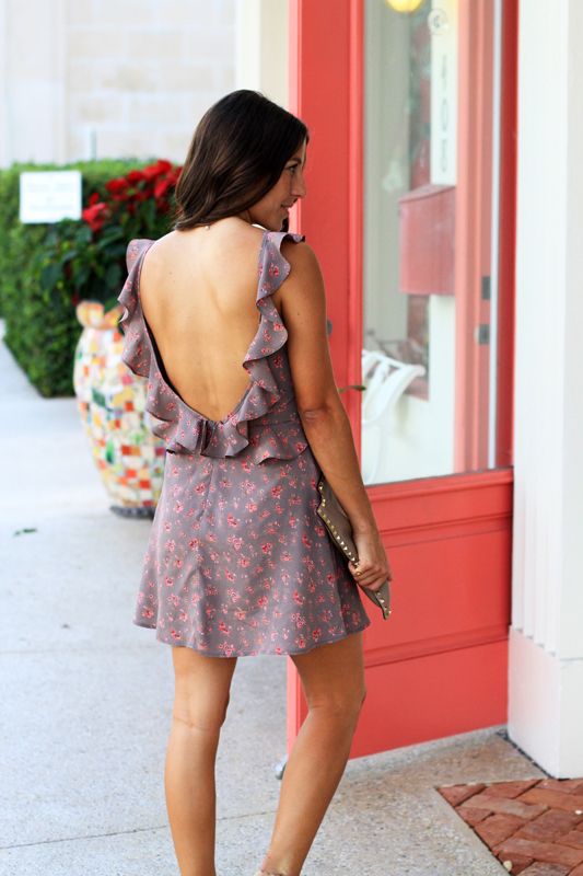 Backless Floral Mini 2