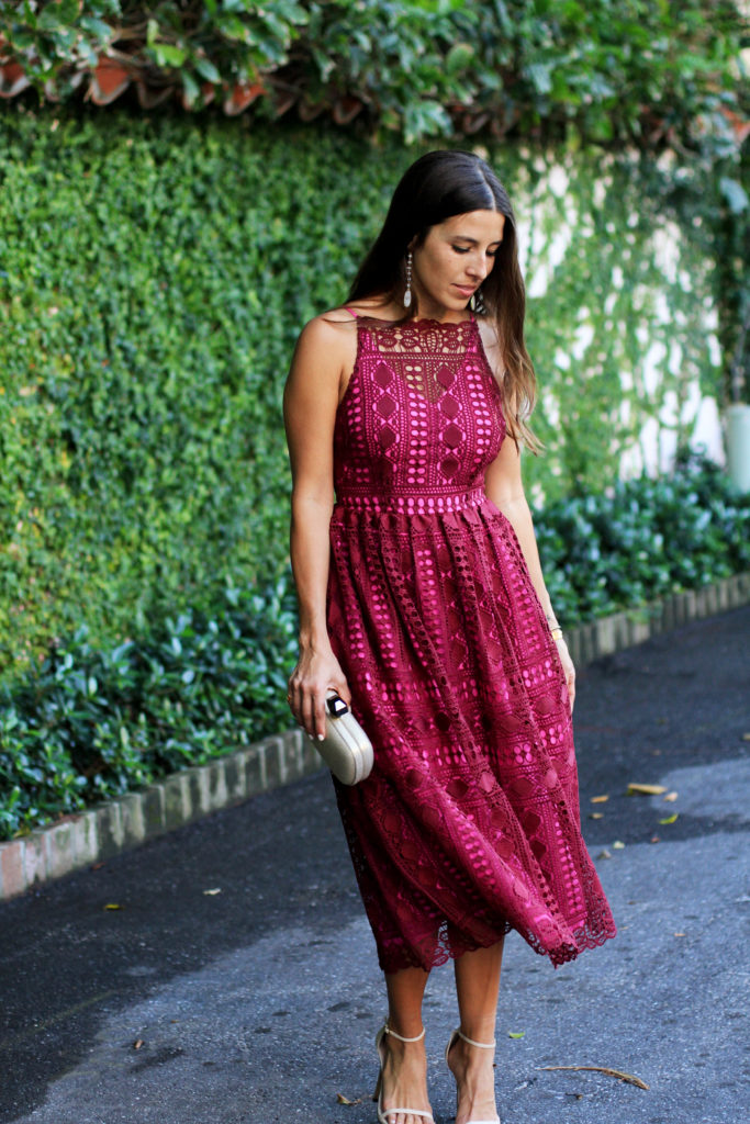 Valentine's Day Date Night Look pink dress