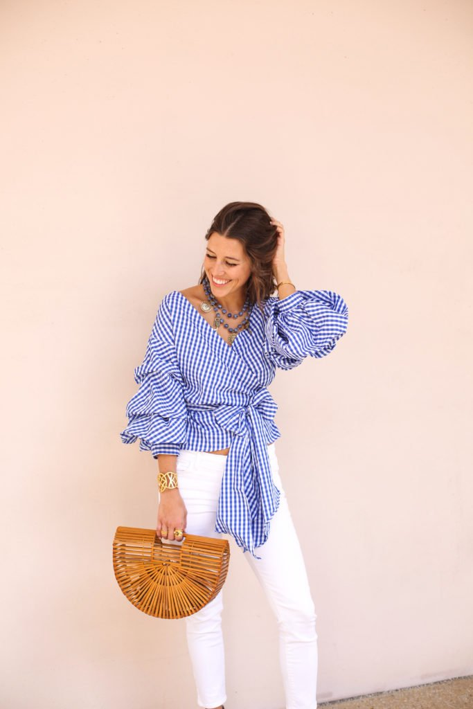 Blue Plaid Wrap Top & Sleeves 6