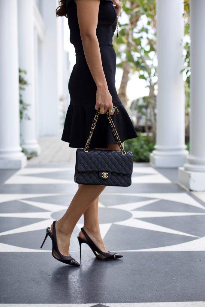 Little off the shoulder black dress 3