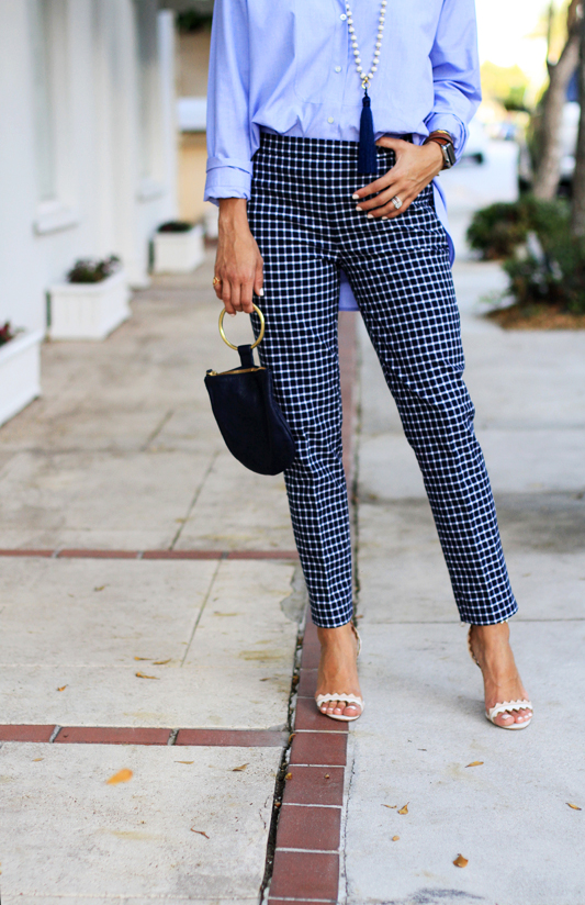 Borrowed From The Boys - Oversized Button Down & checkered pants