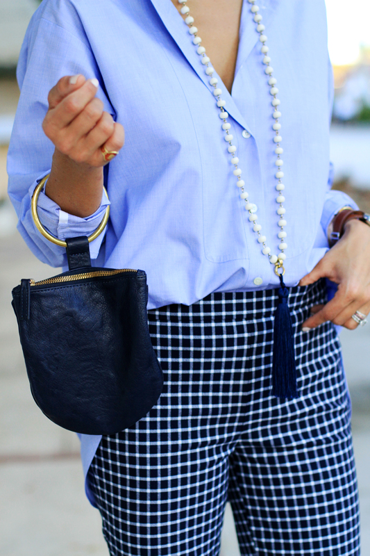 Borrowed From The Boys - Oversized Button Down clutch shot
