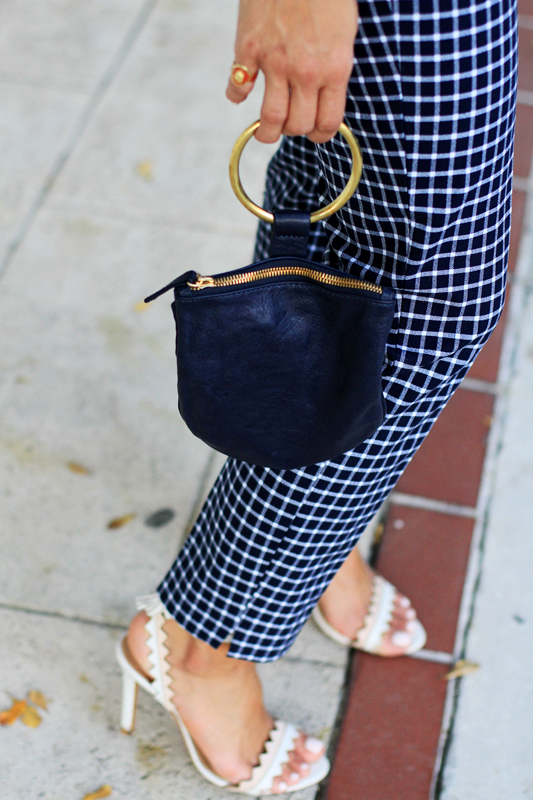 Borrowed From The Boys - Oversized Button Down & clutch