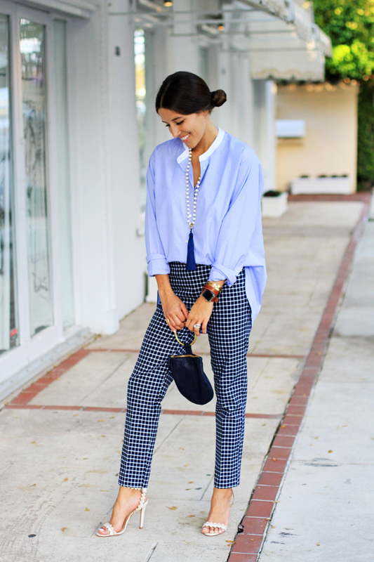 Borrowed From The Boys - Oversized Button Down Navy