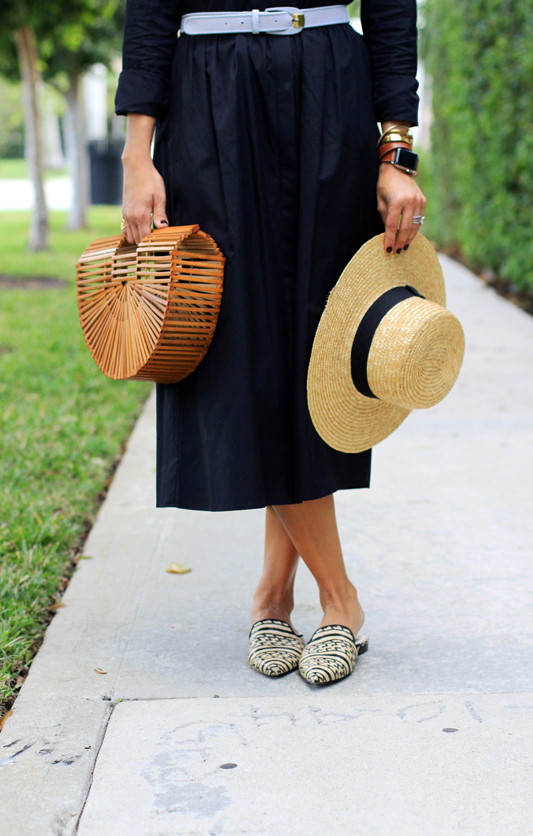 Shirtdress + Hat & Clutch