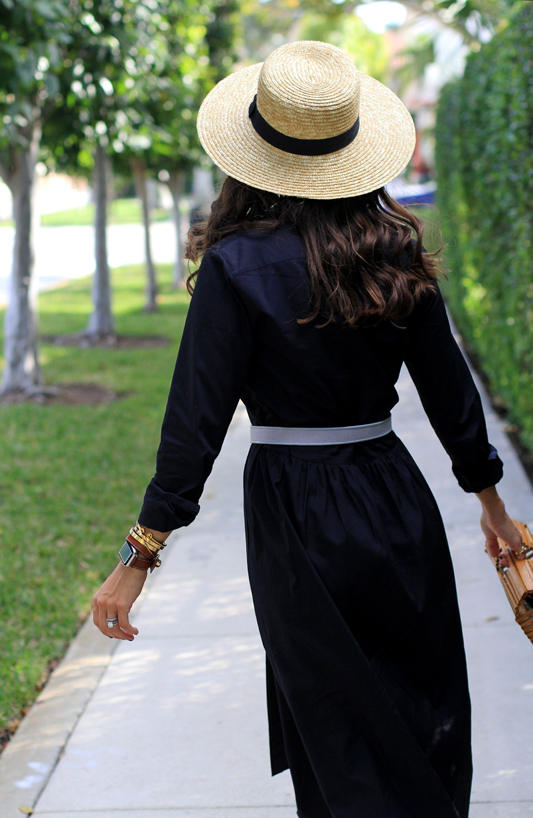 Shirtdress + Vintage belt