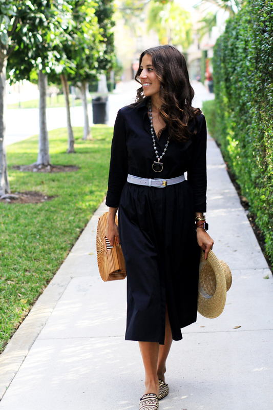 Shirtdress + hat