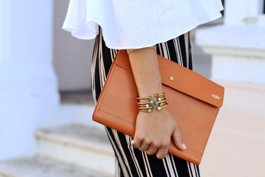 Striped Maxi Skirt + Off the Shoulder Crop  3