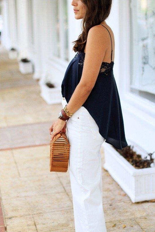 Lace Tank & Wide Leg Jeans 6