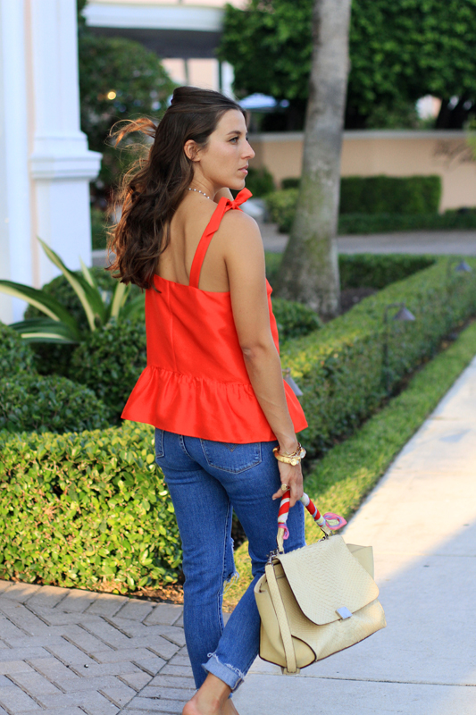 Red Bow Tank & Ripped Jeans 8