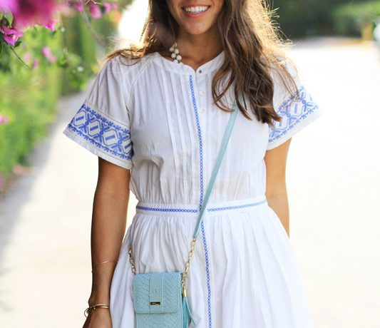LoveShackFancy White & Blue Dress Smiles