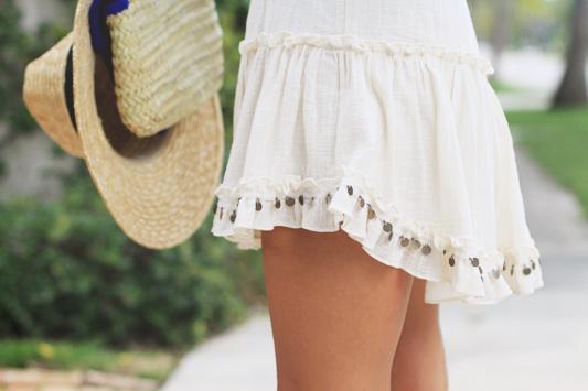 Monogram Hat & Clutch & Dress detail