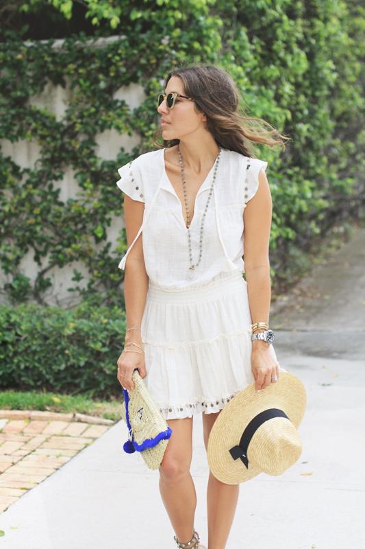 Monogram Hat & Clutch & Dress by Misa