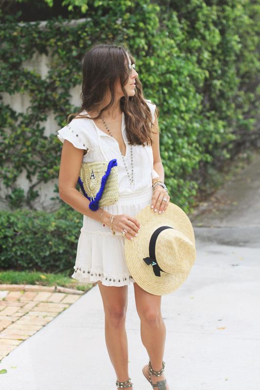 Monogram Hat & Clutch Summer Look