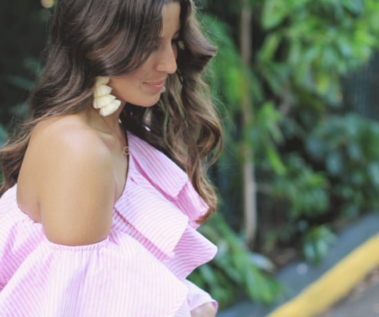 Pink Striped Ruffles 1