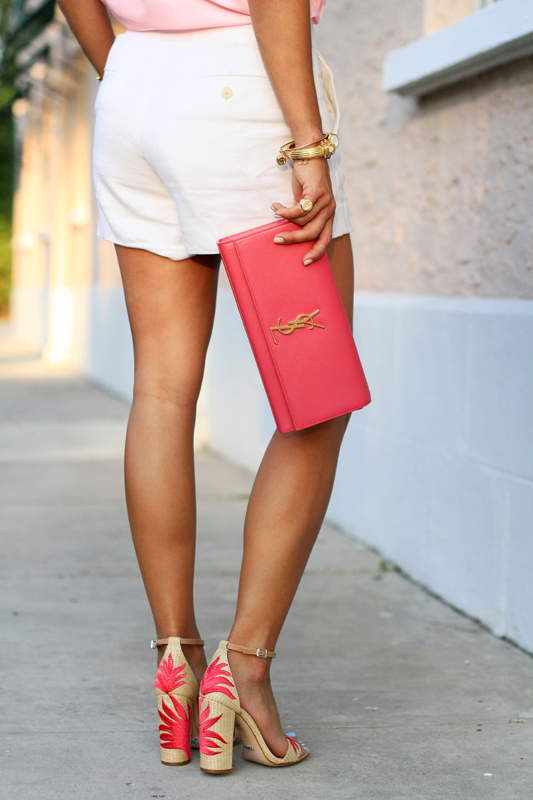 Pink Top, White Shorts & Fun Sandals 2