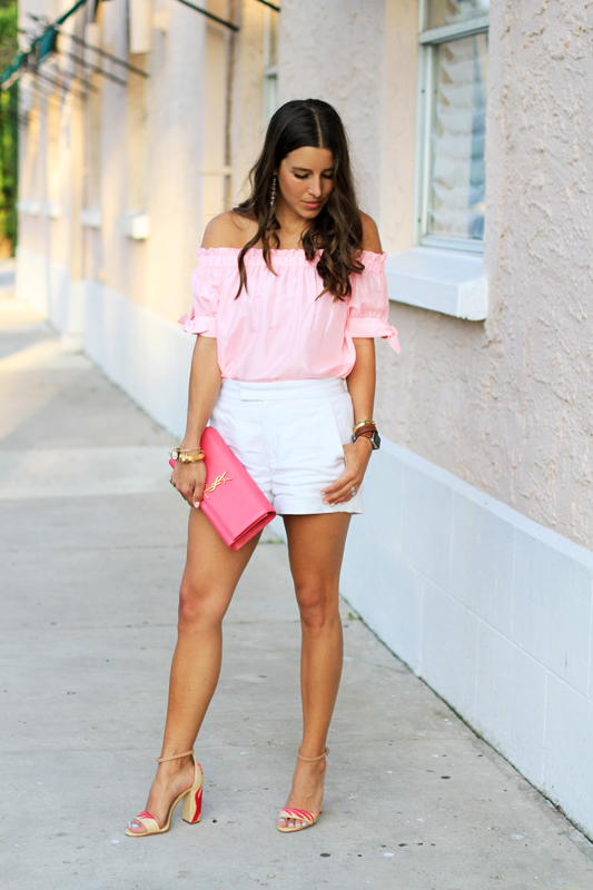 Pink Top, White Shorts & Fun Sandals 5