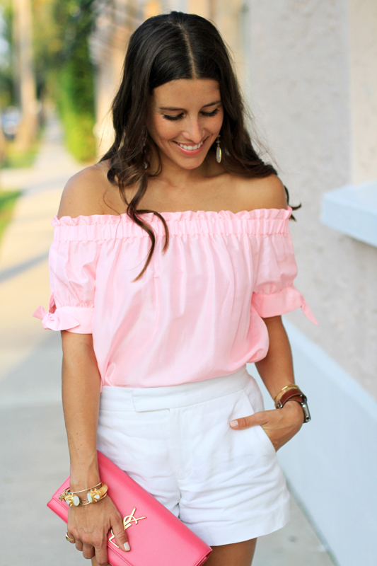 Pink Top, White Shorts & Fun Sandals 4
