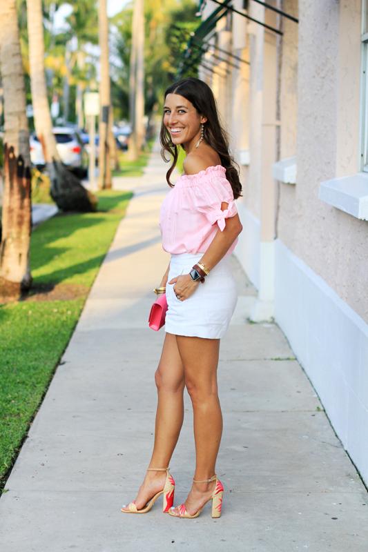 Pink Top White Shorts Amp Fun Sandals Veryallegra