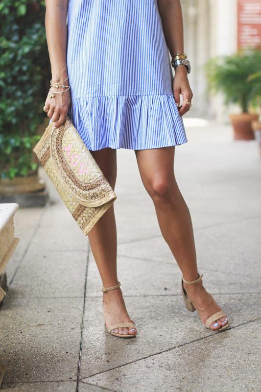 Tassel Dress + Earrings + Mariella vilar bag