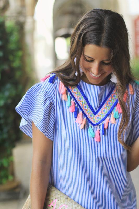 Tassel Dress + Earrings