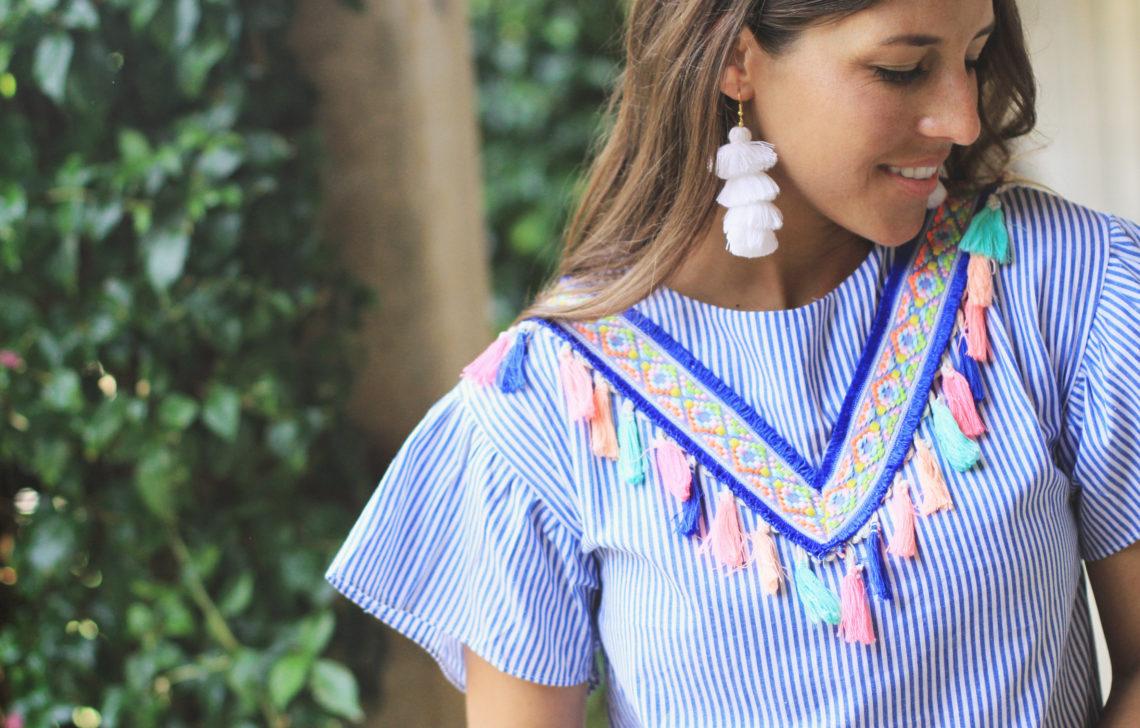 Tassel Dress + Earrings Perfect for Summer