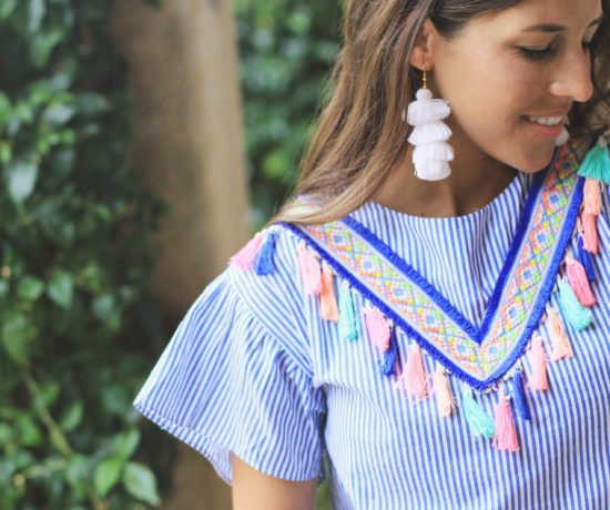 Tassel Dress + Earrings Perfect for Summer