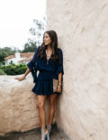 Navy Dress with Tassels in SB