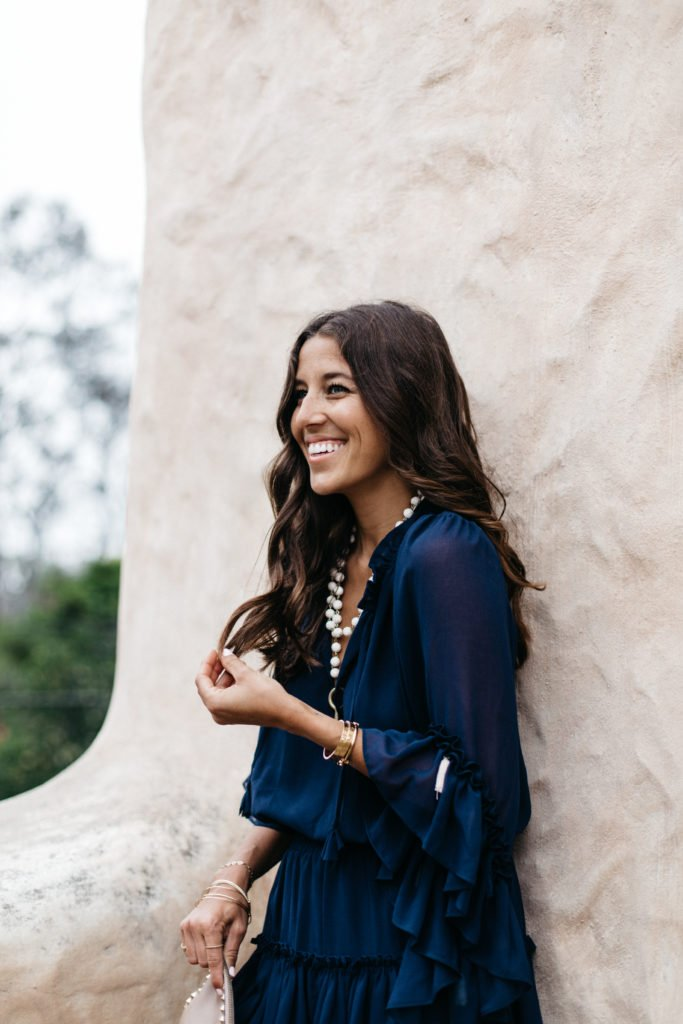 Navy Dress with Tassels in California