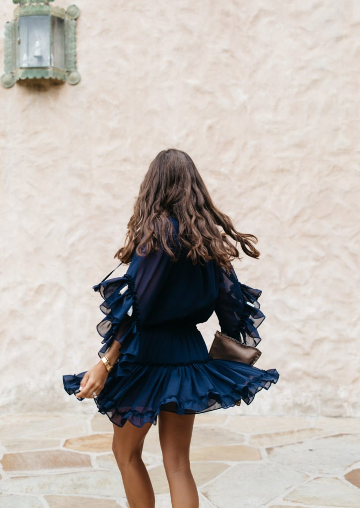 Navy Dress with Tassels Perfect for Twirling