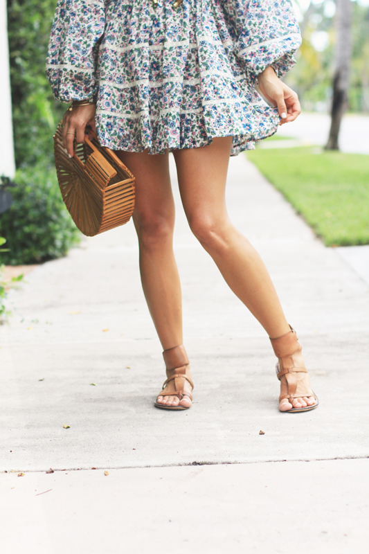 Floral Mini with Long Sleeves Shoe Details