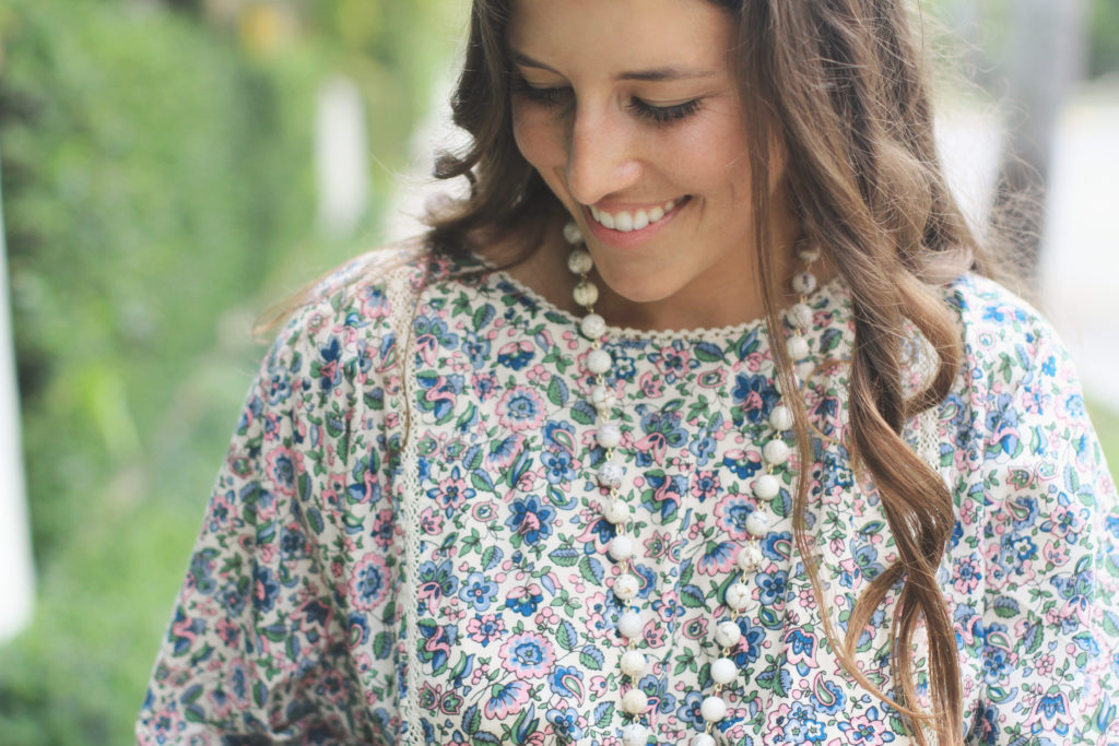 Floral Mini with Long Sleeves Close up