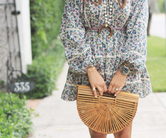 Floral Mini with Long Sleeves