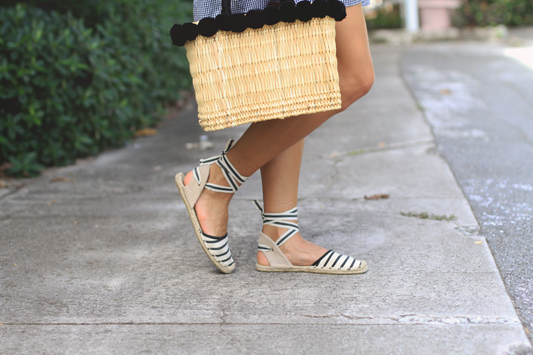 More Gingham, Espadrilles, & Straw Basket 1
