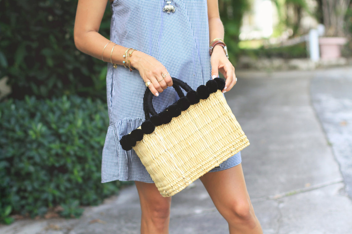 More Gingham, Espadrilles, & Straw Basket