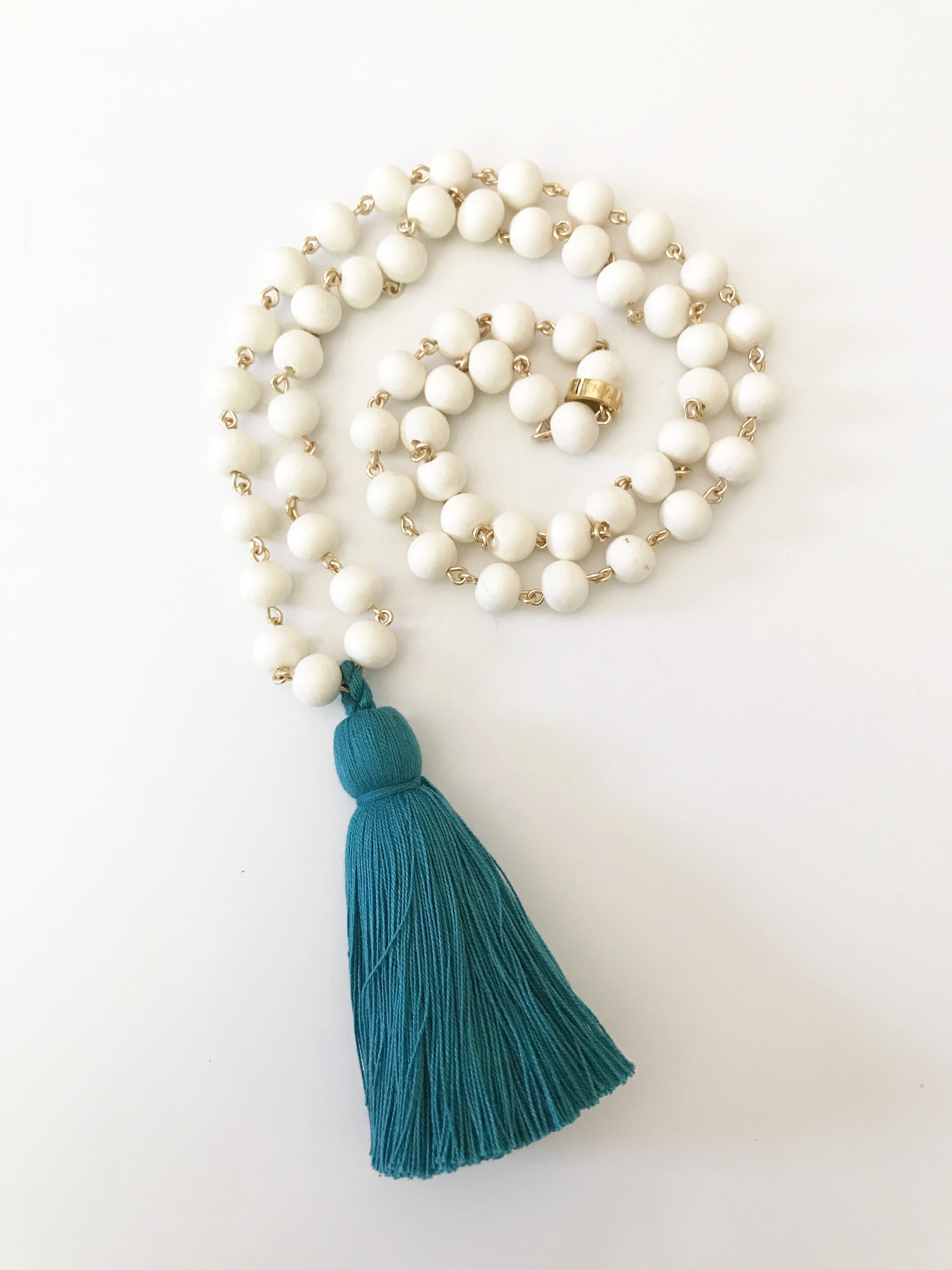 image clothing in item sandwich blue tassel dllu haze main beaded necklace bluehaze