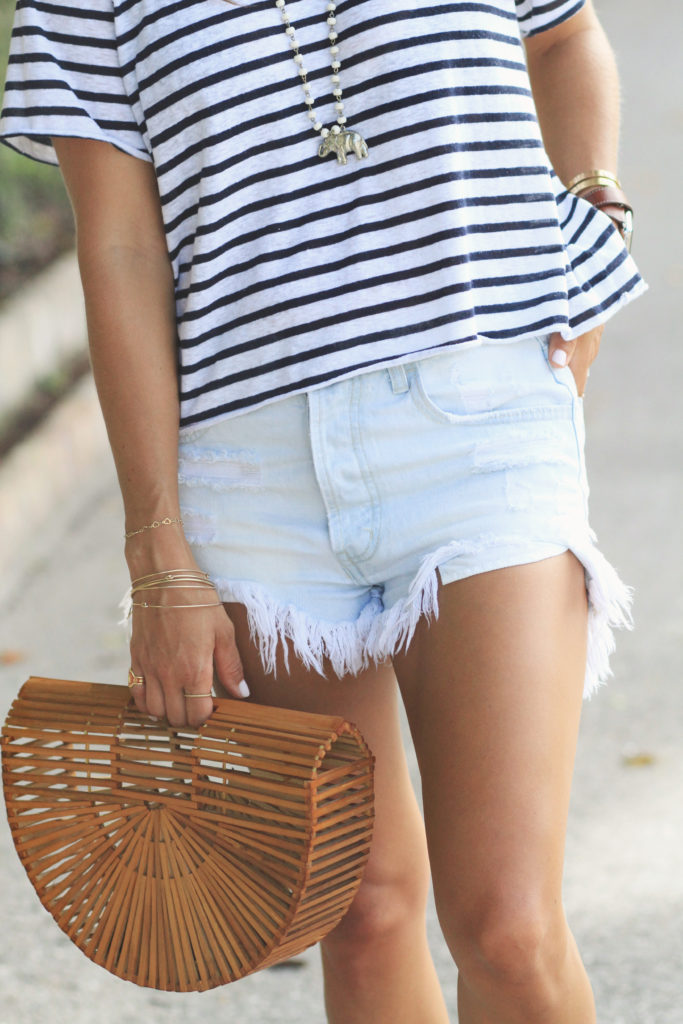 Casual Striped Tee & Shorts