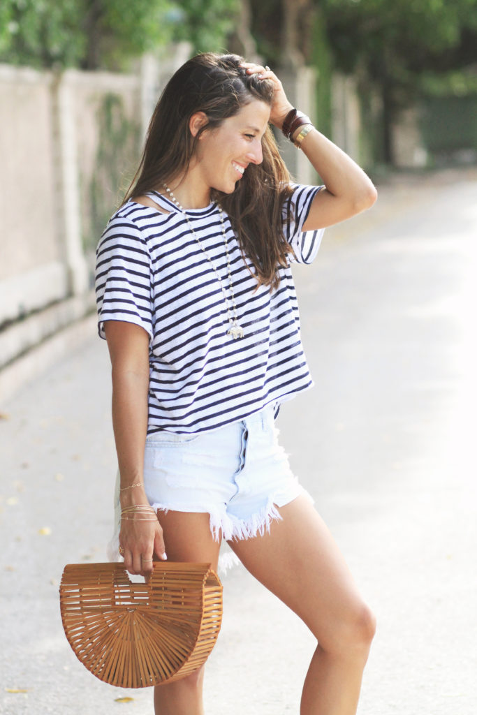 Casual Striped Tee by LNA